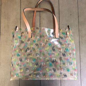 Dooney and Bourke Clear Medium Shopper Bag Tote